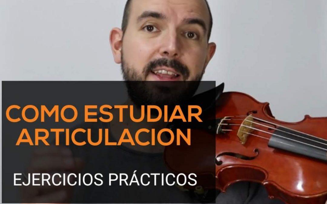 Como estudiar la articulación de los dedos en el violin